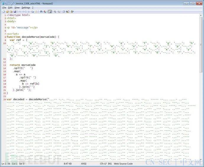 新型钓鱼攻击竟然开始利用摩斯密码来隐藏URL