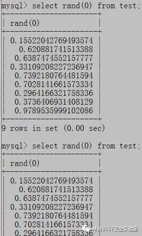 Mysql报错注入之函数分析