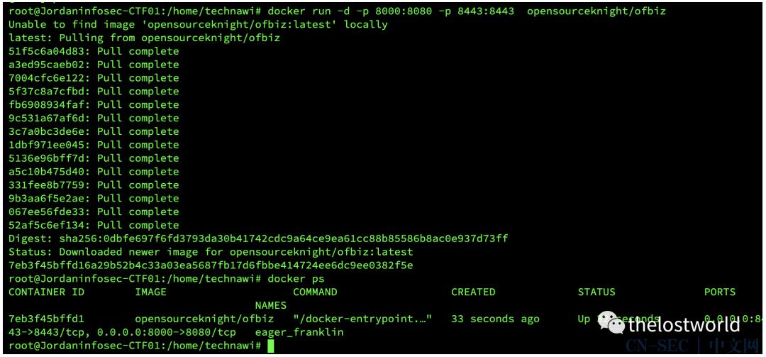 Apache OFBiz rmi反序列化(CVE-2021-26295)复现
