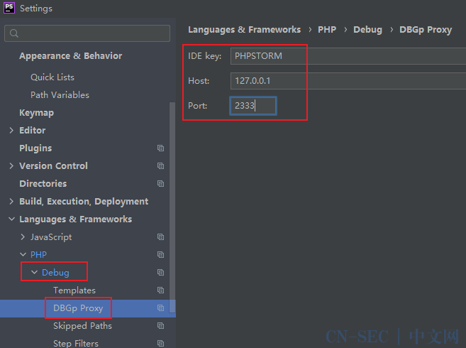 PHPSTROM中xdebug调试配置和基本使用