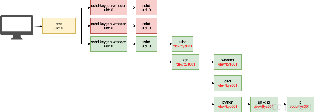 通过进程监控检测SSH活动