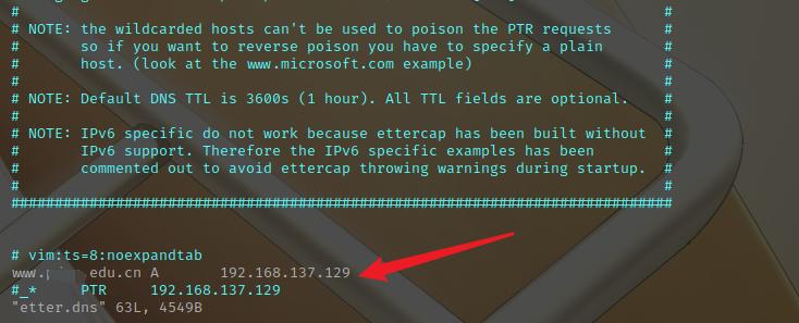 DNS欺骗复现