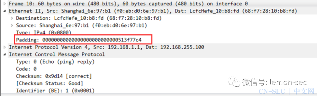 TCP/IP-PING包大小分析