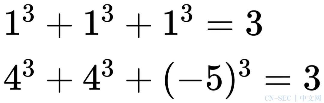 x³+y³+z³=3第三组整数解是多少,这个58年难题被40万台电脑算出来了