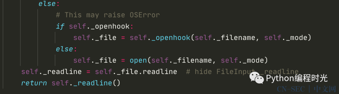 比 open 更适合读取文件的模块:fileinput