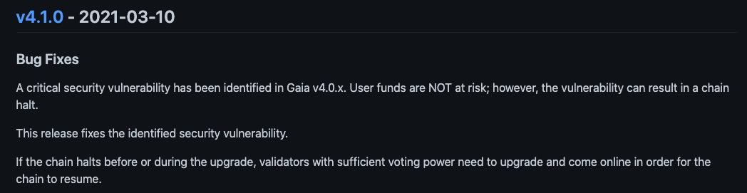 区块链漏洞风险提示|Cosmos Hub 链节点崩溃漏洞