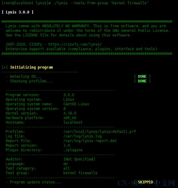Lynis – 用于Linux服务器的自动安全审计工具