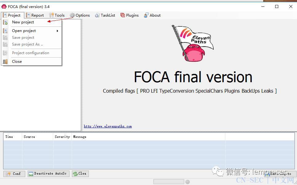 Fear The FOCA网站原数据侦查工具