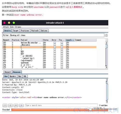 CTF中SQL注入常见题型整理