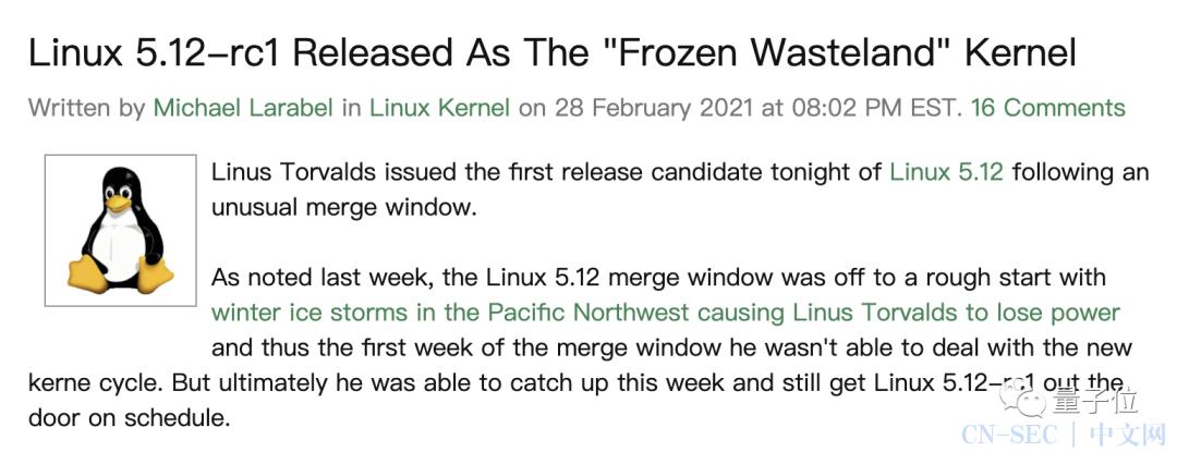Linux 之父警告全球程序员:我刚发布的 5.12 内核有 bug,你们千万别用