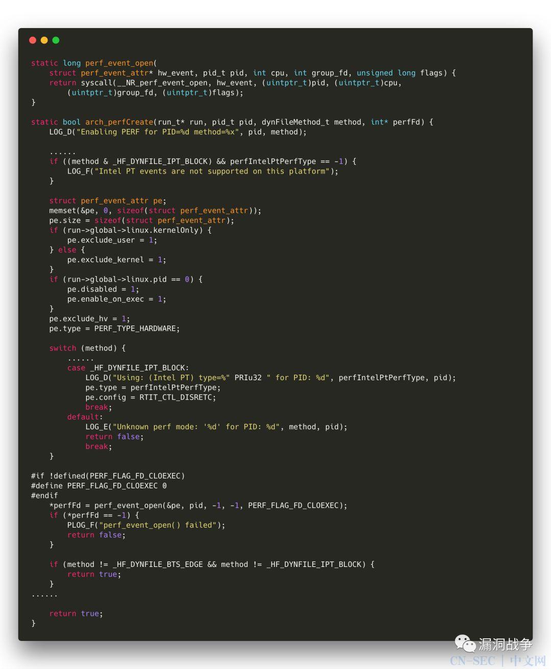 honggfuzz漏洞挖掘技术深究系列(5)—— Intel Processor Trace