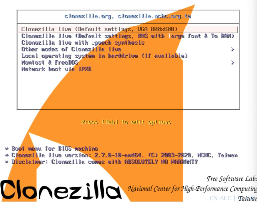 Clonezilla取证工具官方文献归档