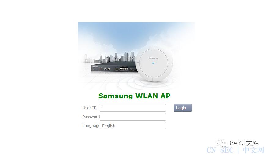 三星 WLAN AP WEA453e路由器  远程命令执行漏洞