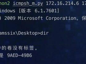 内网学习笔记 | 6、ICMP隧道工具使用