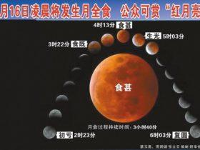 16日将出现红色月全食 我国西部观测条件更好