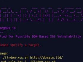 FinDOM-XSS-基于DOM XSS漏洞扫描