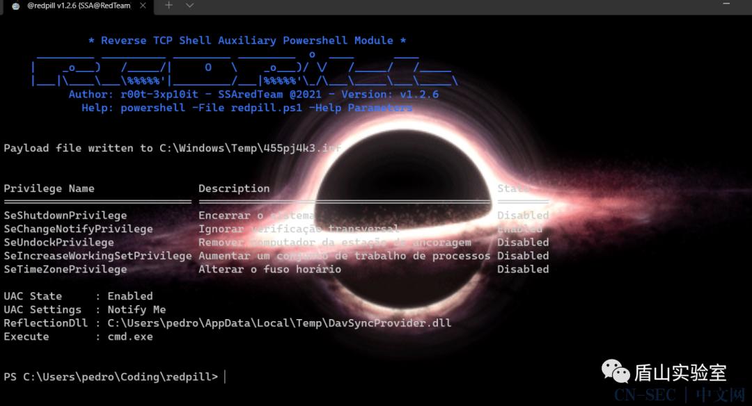 Redpill:在后渗透中实现反向TCP Shell
