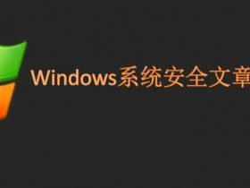 Windows系统安全文章总结