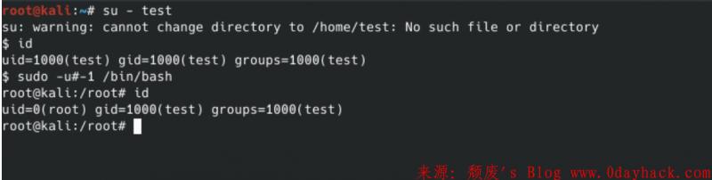 linux sudo root 权限绕过漏洞(CVE-2019-14287)