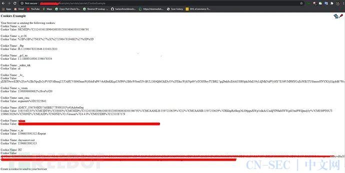 挖洞经验   通过Tomcat Servlet示例页面发现的Cookie信息泄露漏洞
