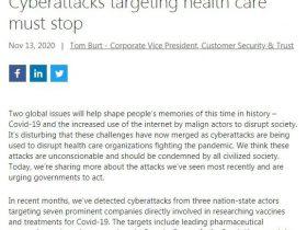 微软称COVID-19疫苗制造商遭到了境外机构支持的黑客攻击