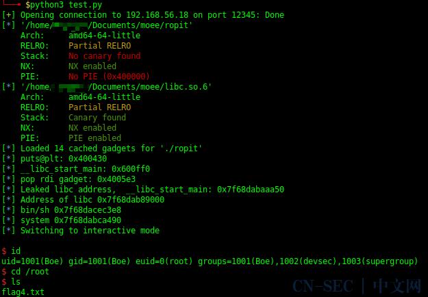 Vulnhub靶机Moee的Walkthough(含linux下的ROP pwn)