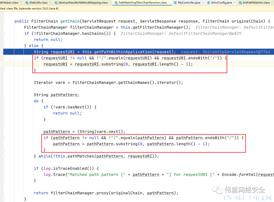 Apache Shiro < 1.5.3权限绕过漏洞分析(CVE-2020-11989)