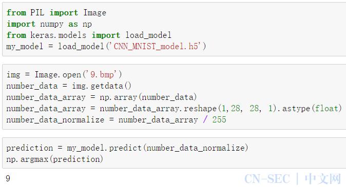 使用CNN卷积神经网络模型训练mnist数据集