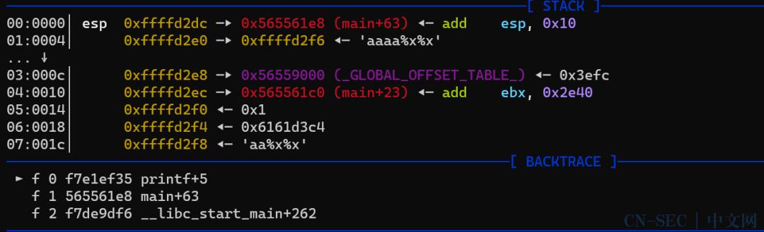 极其详细的格式化字符串漏洞调试