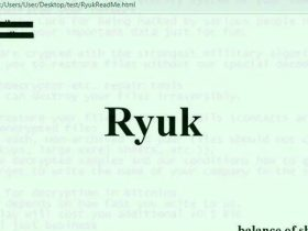 "Ryuk 勒索软件更新后具有""蠕虫般的功能"""