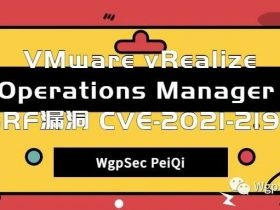 VMware vRealize Operations Manager SSRF漏洞 CVE-2021-21975