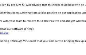 黑客发送假冒邮件试图让安全公司将其恶意软件加白名单