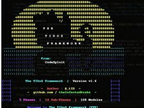 【HW工具】TIDoS-Framework:Web应用渗透测试框架