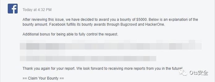 我挖到Facebook漏洞得到54,800美元赏金