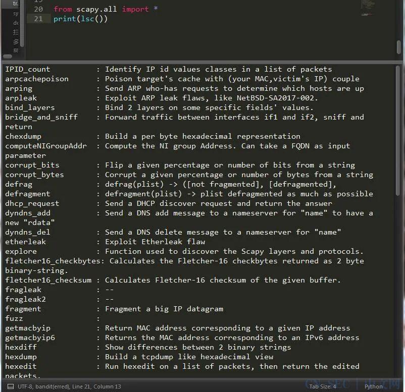 盘点一款 Python 发包收包利器 —— scapy
