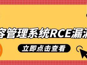 某内容管理系统RCE漏洞分析