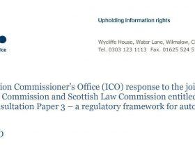 网联车辆 | 英国信息专员办公室(ICO)就个人数据保护的立场和意见