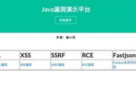 Java版web漏洞靶场-SecExample开源