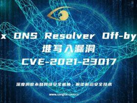 【漏洞分析】Nginx DNS Resolver Off-by-One   堆写入漏洞 CVE-2021-23017