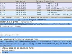 通过将keytab导入wireshark中实现对Kerberos协议加密部分进行直接解包