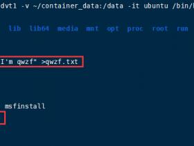 Docker学习笔记(二)-常用操作、数据管理