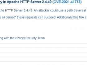 Apache HTTP Server路径穿越漏洞 (CVE-2021-41773) 分析复现